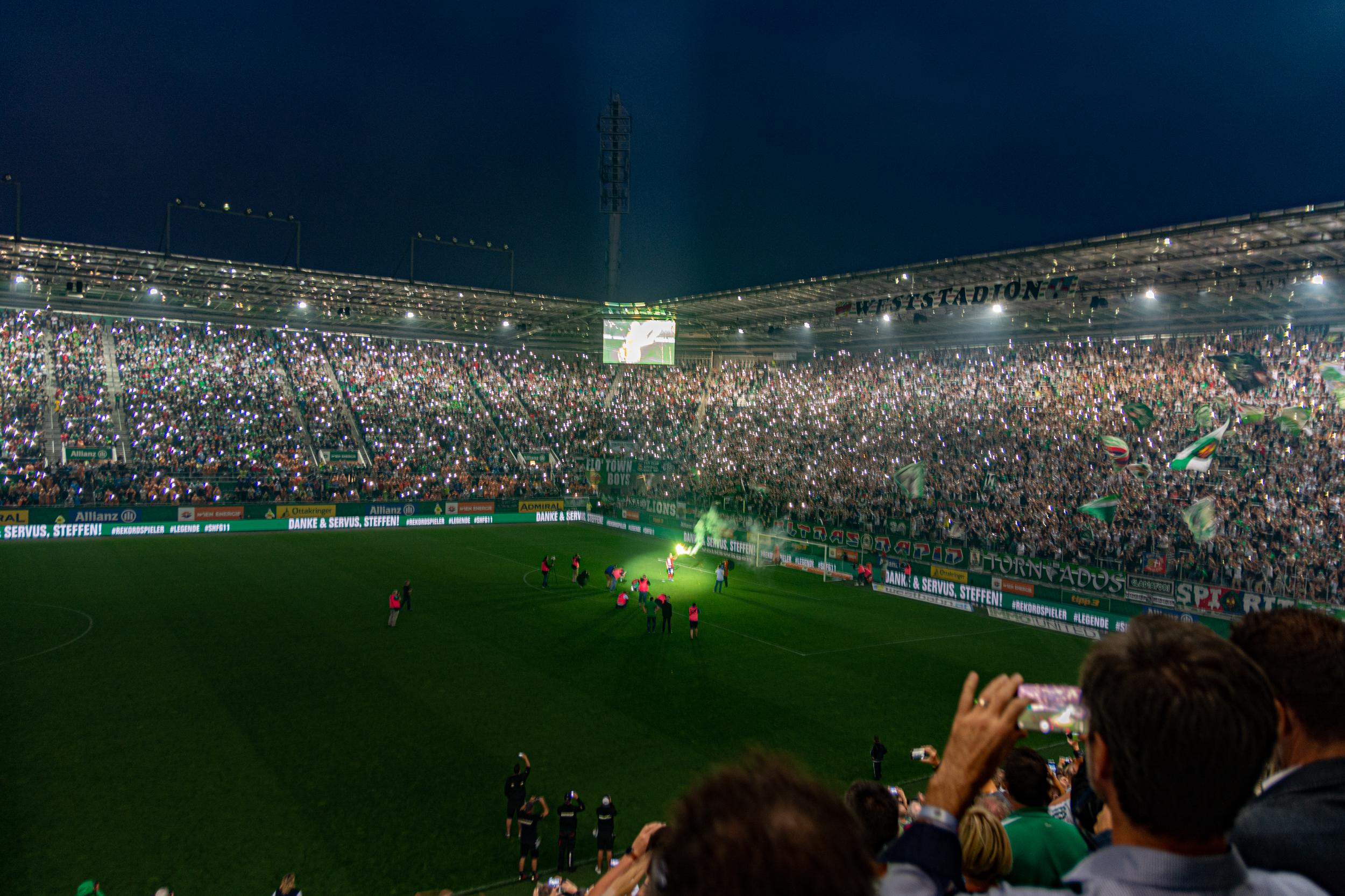 Bild aus dem Wiener Allianz Stadion von Rapid Wien